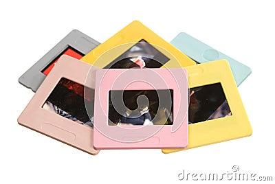 Slide film mount frames