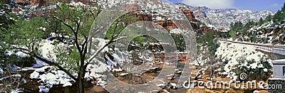 Slide Rock Creek In Wintertime