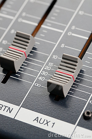 Sliders of an Audio Mixer