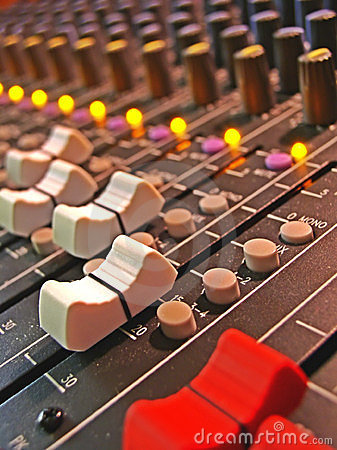 Free Sliders On Audio Mixing Board Stock Images - 4734