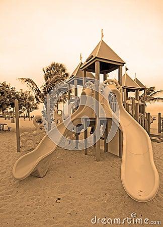 Slides at park