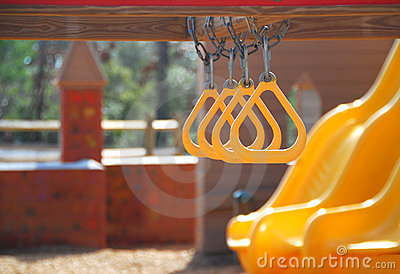 Slides and Rings on Playground