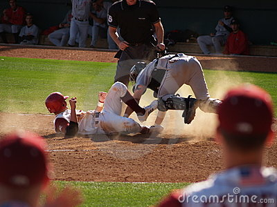 Sliding into Home Plate