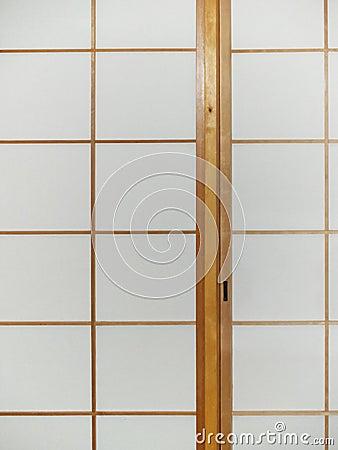 Sliding paper door