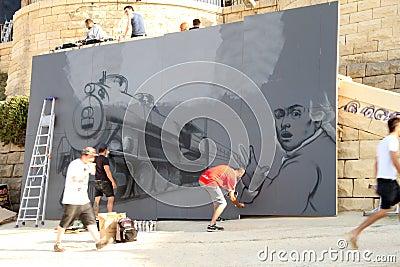 Sliema Street Art Festival Editorial Image