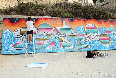 Sliema Street Art Festival Editorial Photo