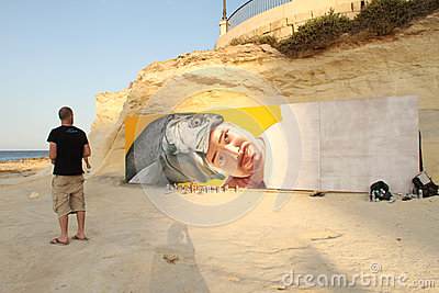 Sliema Street Art Festival Editorial Stock Photo