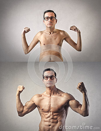 Free Slim And Muscular Man Royalty Free Stock Photos - 39525298