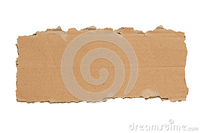 Slim Blank Torn Piece of Cardboard Isolated XXXL