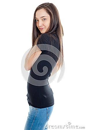 Slim girl profile