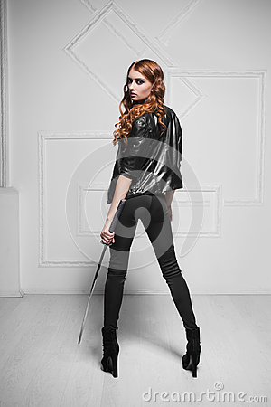 Free Slim Red-haired Woman Royalty Free Stock Photo - 95677645