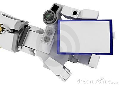Slim Robot Arm, Blue Sign