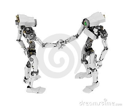 Slim Robot, Handshake