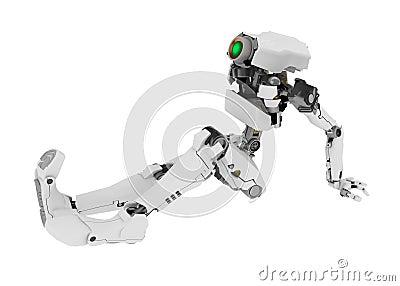 Slim Robot, Sitting Up