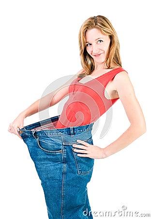 A slim woman makes good diet