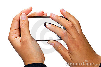 Slimme telefoon met lege vertoning