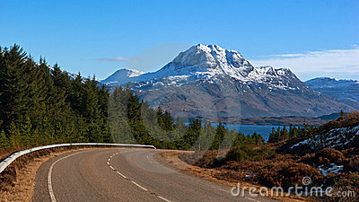 Slioch and loch Maree from A832