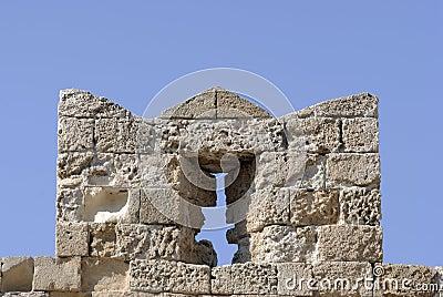 Slit on castle wall