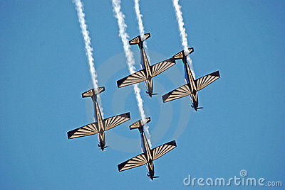 Sliver Falcon Aerobatics Team Editorial Stock Photo