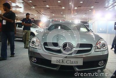 SLK Class Mercedes Benz at Auto World Expo 2011 Editorial Stock Photo