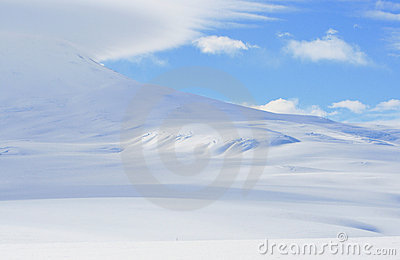 Slope of Mount Erebus, Antarctica