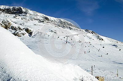Slopes in Alpe d Huez. France
