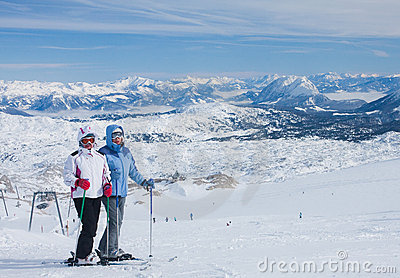 On the slopes of the Dachstein plateau. Austria