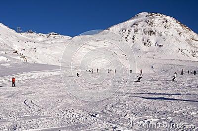 Slopes in Deux Alpes. France