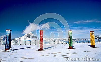 Slopes of Hintertux 2, Austria.