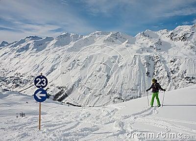 On the slopes of Hohrgurgl. Austria