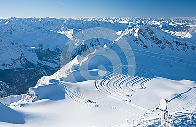 Slopes of ski resort, Kaprun, Austrian Alps