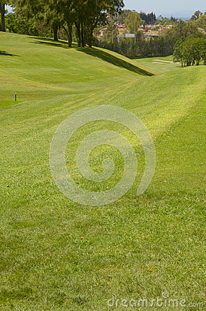 Sloping fairway