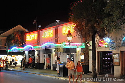 Sloppy joe s bar in Key west florida Editorial Image