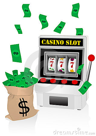Free Slot Machine And Money Stock Images - 10987054