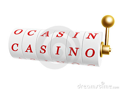Slot machine with casino sign