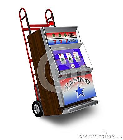 Slot machine delivery