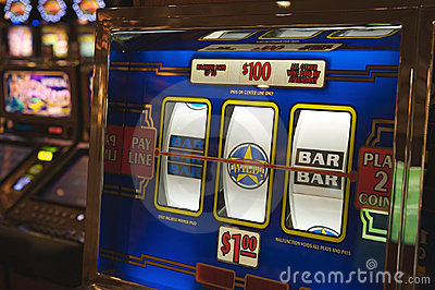 Slot machine in Las Vegas Editorial Stock Photo