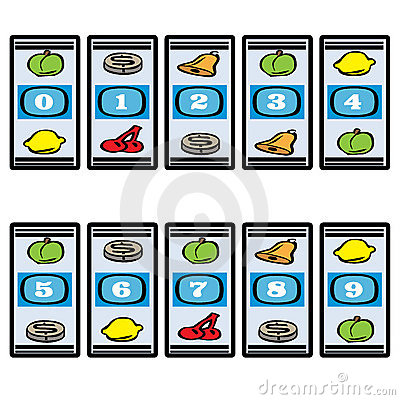 Free Slot Machine Numbers Stock Images - 16491714