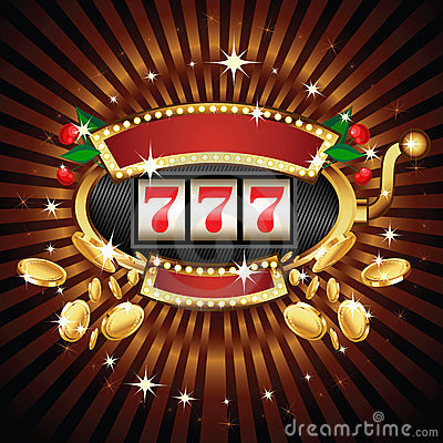 Free Slot Machine On Shiny Background Stock Images - 23755044