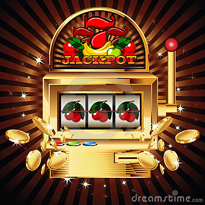 Free Slot Machine On Shiny Background Royalty Free Stock Photography - 23755067