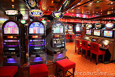 Slot machines in play room Editorial Image