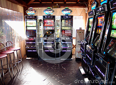 Slot machines room Editorial Photo