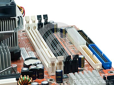 Slot Ram on Computer Mainboard