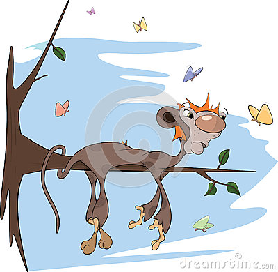 Free Sloth Monkey Cartoon Stock Photo - 28186080