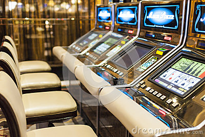 Slots in Las Vegas Casino, Nevada Editorial Stock Image