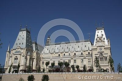 Slott av kultur i Iasi (Rumänien) Redaktionell Arkivbild