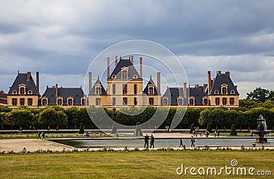 Slotten av Fontainebleau Redaktionell Arkivfoto