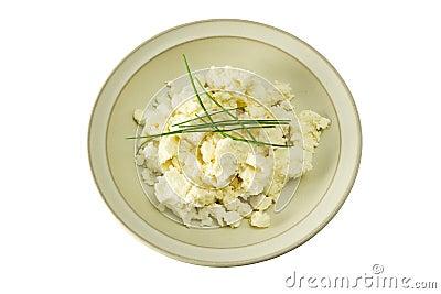 Slovak cheese - sheep cheese (bryndza) - isolated