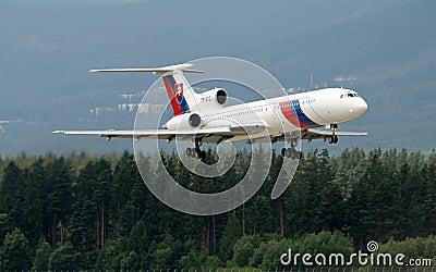 Slovak government aircraft Tu154M Editorial Photo