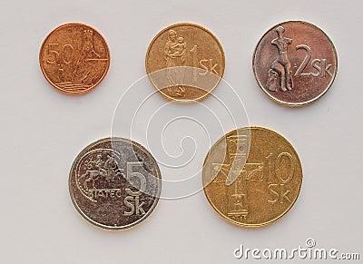 Slovak korunas coins